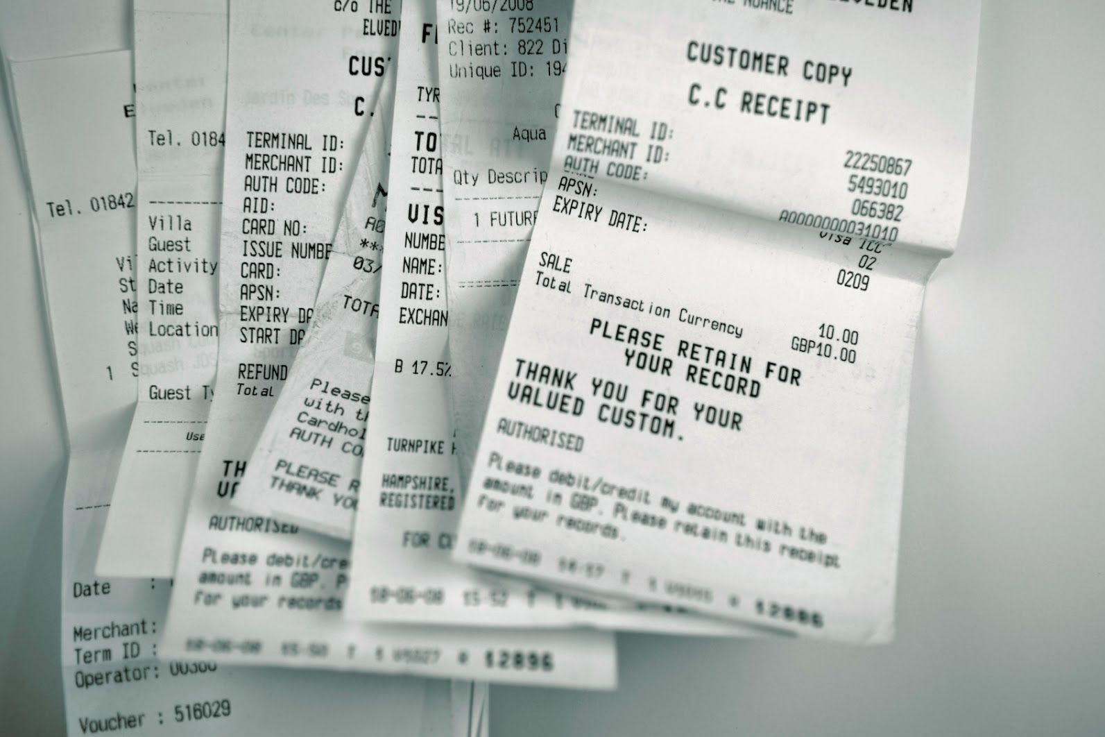 as a business owner do i need to keep receipts atkinsons